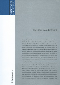 Cover Gotthard 1 Legenden